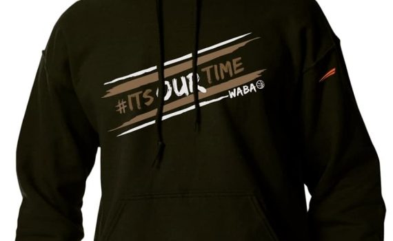 WABA 'ITS OUR TIME' HOODIE – BLACK