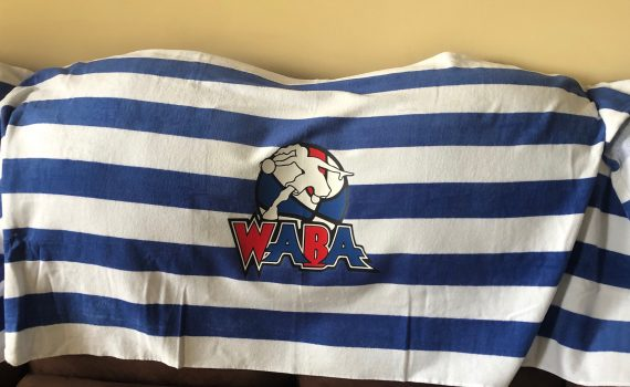 WABA Beach Towel – Blue/White
