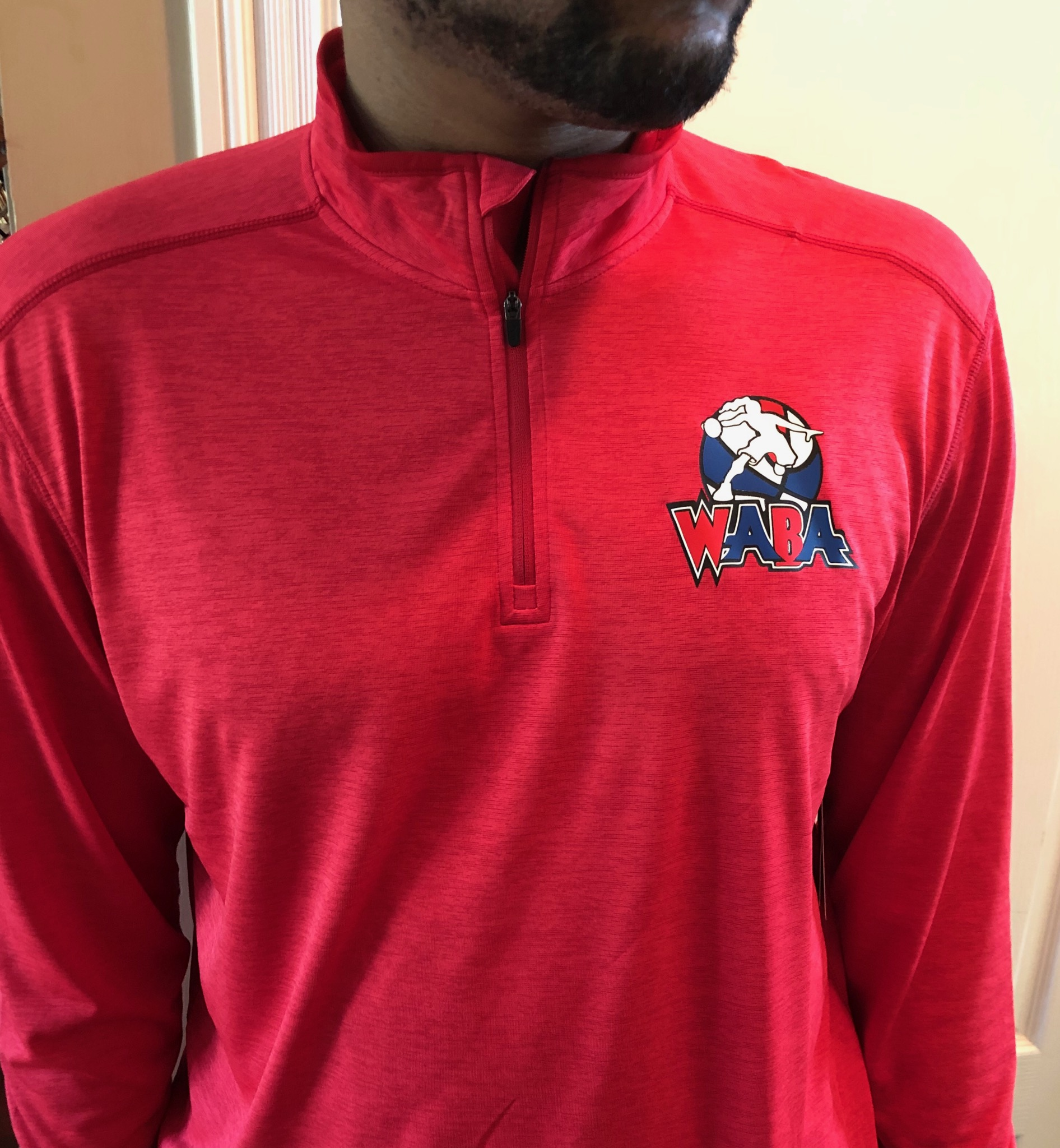 1/4 Zip Long Sleeve Pullover – Red